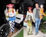 Gewn Stefani with family as Jesse from Toy Story 2